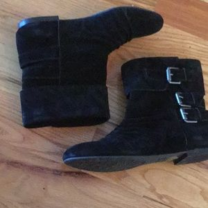 Gianni Bini Shoes - Gianni Bini black suede ankle booties with buckles